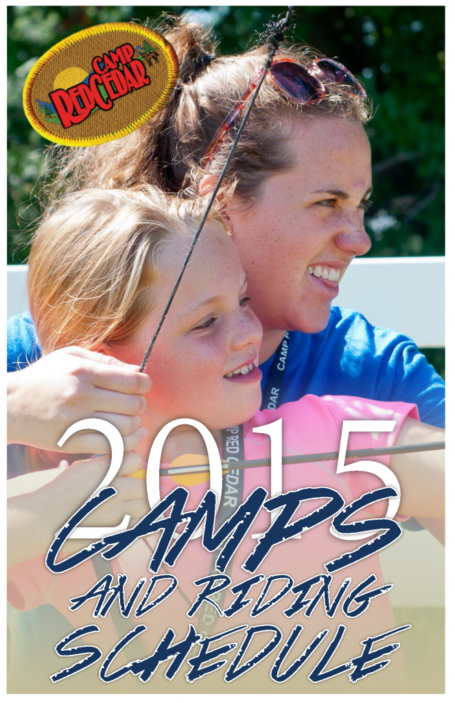 Camp Red Cedar, 2015 Camp and Riding Schedule_Page_1, Cover